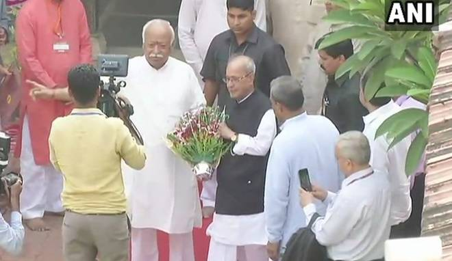Former president Pranab Mukherjee is in Nagpur to address the valedictory function of the RSS's third-year officers'