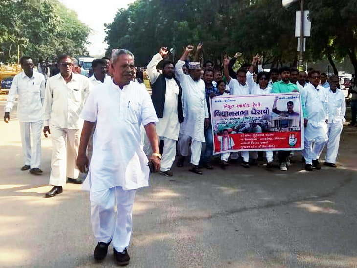 MGUJ-GAN-OMC-LCL-congress-sieges-against-bjp-ruled-gujarat-government-on-farmer-loan-waiver-and-other-issue-gujarati-news