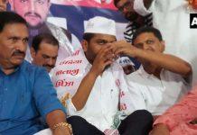 Hardik Patel breaks 'fast unto death' after 19 days; no talks with govt yet